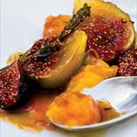 Pan-Seared Apricots and Figs with Honey and Lavender
