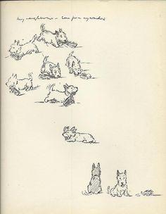 Scottish Terrier dog Print by Lucy Dawson by OLDBOOKSMAPSPRINTS, £10.00