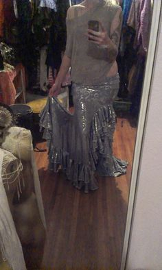 Tribal Fusion Skirt  bellydance or gothic by BenneGezerittDesigns, $240.00