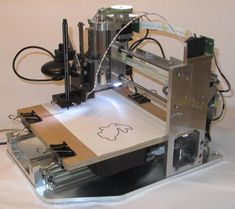 CNC Plotter controlled via Arduino GRBL using GRBL-Plotter a free GCode sender for windows