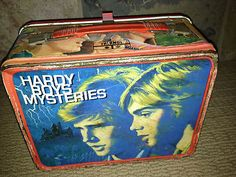 OH man, i want this. Vintage Hardy Boys Mysteries Metal Lunch Box NO Thermos 1977