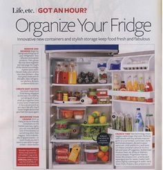Is your refrigerator always a mess? Find out how to store & organize your overstuffed Refrigerator.