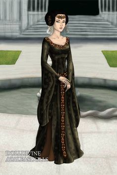 Medieval lady ~ by Evenmoon ~ created using the LotR Hobbit doll maker | DollDivine.com