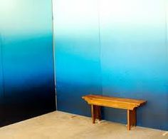 Ombre wall DIY projects, ideas and suggestions – Best Design Ideas Ombre Painted Walls, Ombre Walls, Tons Clairs, Wall Design, House Design, Room Paint, Paint Walls, Blue Walls, Cool Walls
