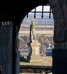 Stirling, Scotland. King Robert the Bruce -     the battle of Bannockburn was fought close to Stirling in 1314 - confirming the Scottish nation, separate from England