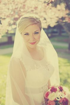 Elizabeth's bridal look was perfect--hair, makeup, everything! #belfiorebridal