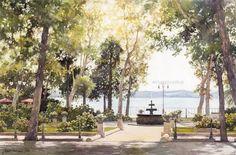Michal Orlowski__watercolor paintings_city-art_акварель_город