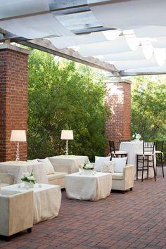 Patio off Grand Oaks Ballroom at Sanctuary | Designed by Engaging Events | Kiawah Island Wedding