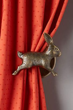 Leaping Rabbit Tie Back - anthropologie.com