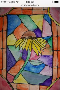 Stain glass flower pictures