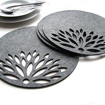 podkładki astry pod talerz okrągłe 4szt. szare, dodatki - kuchnia - obrusy i podkładki