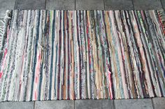 Rustic Rag Rug / Pastel Cotton Loom Woven/ by YourGreatestStory
