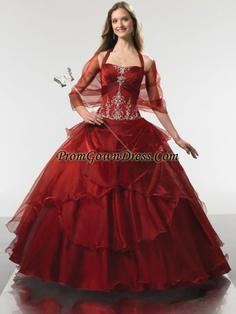 Luxurious ball gown halter top neck floor-length wine red quinceanera gown T91206,Quinceanera Dresses
