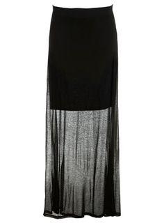 Black 2 Layer Maxi Skirt - View All - New In - Miss Selfridge - StyleSays