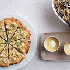 Yukon Gold Potato, Leek and Fromage Blanc Frittata Recipe - Dede Sampson | Food & Wine