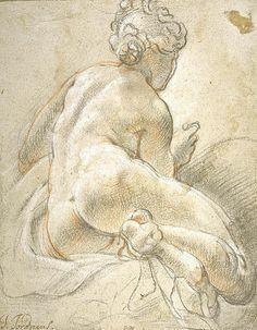 "huariqueje: "" Study for female nude ( The Nymph Adrastea) - Jacob Jordaens 1601 Flemish 1593-1678 National Gallery of Scotland , : Edinburgh """