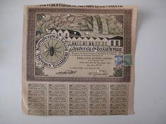 GREECE  EDESSA VODENA WEAVING MILL BOND 10 SHARE 1000 DRACHMAS 1922