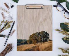 Cronan Ranch Wood Clipboard  Natural White by LemoneeOnTheHills