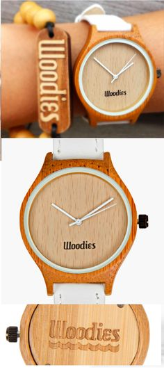 White Bamboo Wood Watch | Mon p'tit cactus