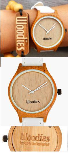 White Bamboo Wood Watch | Mon p'tit cactus