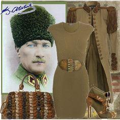 atam modadada izindeyiz:)) by dinemisim on Polyvore featuring Alexander McQueen, Balmain, Miu Miu, military and military jackets