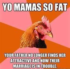 Anti-joke chicken strikes again.