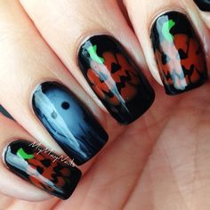 Pin for Later: 102 Halloween Nail Art Ideas That Are Better Than Your Costume The Halloween Spirit