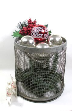 Vintage Minnow Bucket Wire Basket  Cone by UrbanRenewalDesigns, $24.00