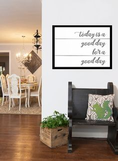 Today is a Good Day to Have A Good Day is the perfect thought to start your day. Our good day farmhouse sign is sure to add that extra detail to the fixer upper style home. You search for that perfect rustic decor and once you find it , its not perfect for your space. Thats why we created our farmhouse prints. Our designs are perfect for your style and fit your space. Perfect for your home or make a great for a gift. ❤ WE CREATE CUSTOM DESIGNS AS WELL ❤ Feel free to message me with any…