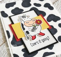 If you like making cards and you have cow stamps, you really need to make your own cow spots. It only takes seconds to create! Make Your Own, Make It Yourself, How To Make, Family Sketch, Cow Craft, Cow Spots, Parchment Craft, Alcohol Markers, Over The Moon