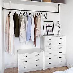 8 brilliantly chic wardrobe organising hacks -
