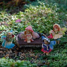 Fairy Homes and Gardens - Miniature Fairy Tale Fairies-Set of 4, $22.50 (http://www.fairyhomesandgardens.com/miniature-fairy-tale-fairies-set-of-4/)