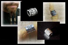 Viking bead for beards dreads braids - ancient medieval celtic ren fair