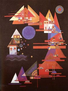 """Wassily Kandinsky - """"Points in the curve"""", 1927"""