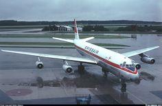 "Swissair Douglas DC-8-62 HB-IDF ""Schwyz"" arriving at Stockholm-Arlanda, circa 1978. (Photo: Stefan Sjögren)"