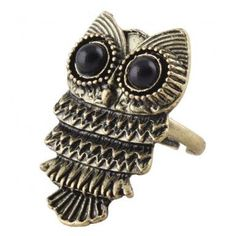 New Fashion Lady Exquisite Ancient Adjustable Metal Owl Retro Style Ring Gift #1: Jewelry: Amazon.com