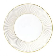 Gold Stripe Accent Plate by Jasper Conran for Wedgewood  sc 1 st  Pinterest & Party porcelain gold u0026 white high end paper party plates ...