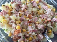 Sałatka z wędzonym kurczakiem i ananasem - Blog z apetytem Orzo, Potato Salad, Potatoes, Vegetables, Ethnic Recipes, Blog, Fit, Pineapple, Shape