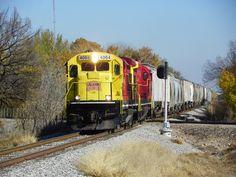 AOK B23-7 4064   Description:    Photo Date:  11/16/2011   Location:  Midwest City, OK   Author:  Kent Held  Categories:    Locomotives:  AOK 4064(B23-7)