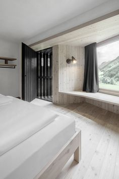 A Dramatic #Hotel in Northern #Italy Is a Hiker's Refuge - Dwell #minimalist #bedroom #travel