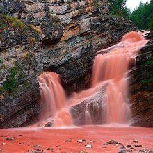Cameron Falls, in Alberta, Canada