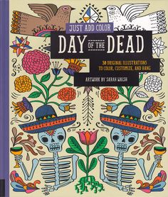 JUST ADD COLOR: DAY OF THE DEAD BOOK Who doesn't love to color? This Day of the Dead coloring book features 30 original designs by artist Sarah Walsh. You'll have a blast coloring in these beautiful line drawings by yourself, or with the kiddos! The pages are perforated for easy removal once you're done to hang on the wall and show off. $13.00 #housewares #book #coloringbook #dayofthedead