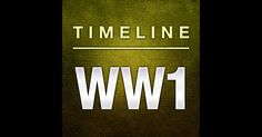 Interactive timeline to help students understand chronological order of events and better understand events of Ww1 Timeline, Ipod Touch, Itunes, Connection, Ipad, Students, Events, Iphone, History
