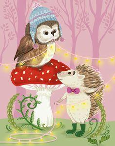 Owl & Hedgehog