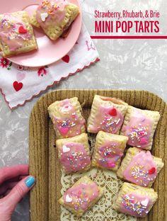 Strawberry, Rhubarb, and Brie Mini Pop Tarts // take a megabite
