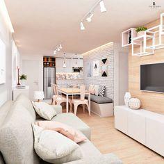 40 cheap apartment decorating ideas 35 - Home Decor Condo Interior Design, Condo Design, Room Interior, House Design, Home Living Room, Apartment Living, Living Room Designs, Small Condo Living, Cozy Living