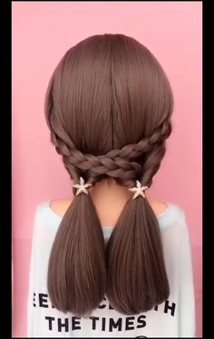 Easy Hairstyles For Long Hair, Braids For Long Hair, Braided Hairstyles, Cool Hairstyles, Japanese Hairstyles, Korean Hairstyles, Hair Up Styles, Medium Hair Styles, Hair Tutorials For Medium Hair