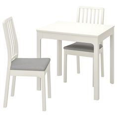 IKEA's selection of small dining table sets come with two matching chairs included and are the perfect way to create an intimate dinner for two setting at home. At Home Furniture Store, Modern Home Furniture, European Furniture, Wall Shelf Unit, Wall Shelves, Table Legs, Table And Chairs, Bag Chairs, Small Dining Table Set