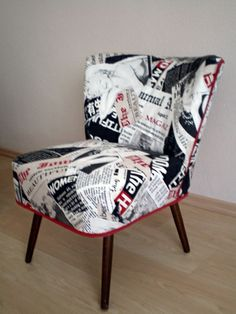 Fifties cocktail chair reupholstered - HOME SWEET HOME