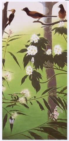 田中一村「花と鳥」(昭和40年代)
